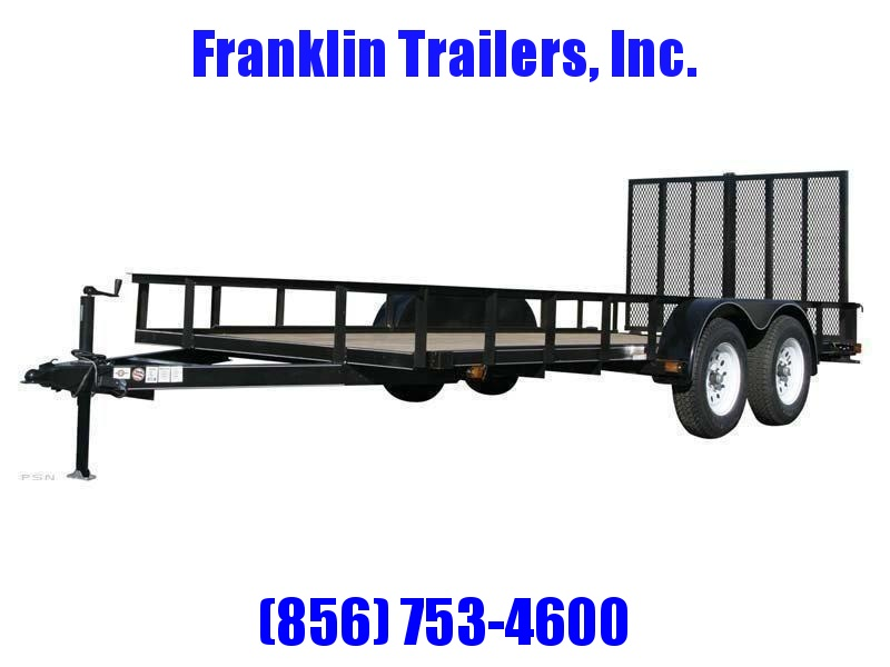 2020 Carry-On 6X14 7000 lbs. GVWR 6 ft. Tandem Wood Floor Utility Trailer 2021947