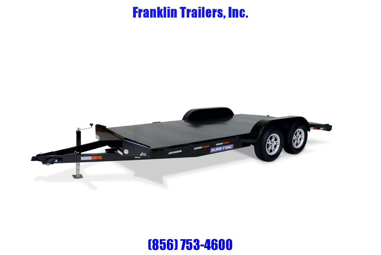 2020 Sure-Trac 7 x 18 Steel Deck Car Hauler  7k STOCK# 2022057