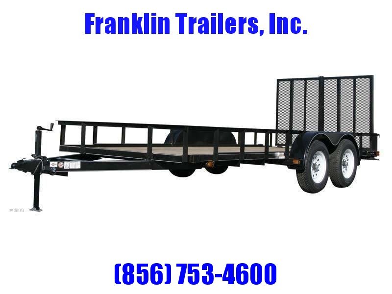 2020 Carry-On 6X14 7000 lbs. GVWR 6 ft. Tandem Wood Floor Utility Trailer 2021946