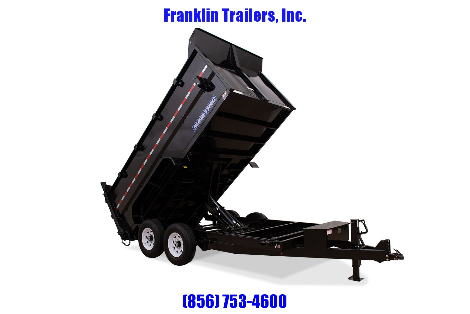 2020 Sure-Trac 82 IN X 14 LP 14K Dual Ram Dump 4ft Side STOCK# 2022039