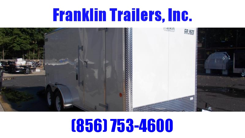 """2020 Car Mate 7X16 Tandem Axle Enclosed Cargo Trailer w/ 6"""" Additional Height  2022488"""