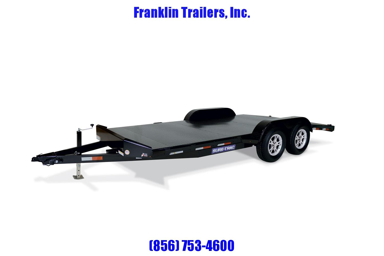 2020 Sure-Trac 7 x 18 Steel Deck Car Hauler  7k STOCK# 2022155