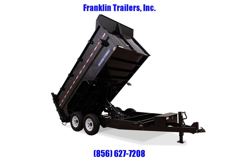 2020 Sure-Trac 82 IN X 14 LP 14K Dual Ram Dump 4ft Side 2021179