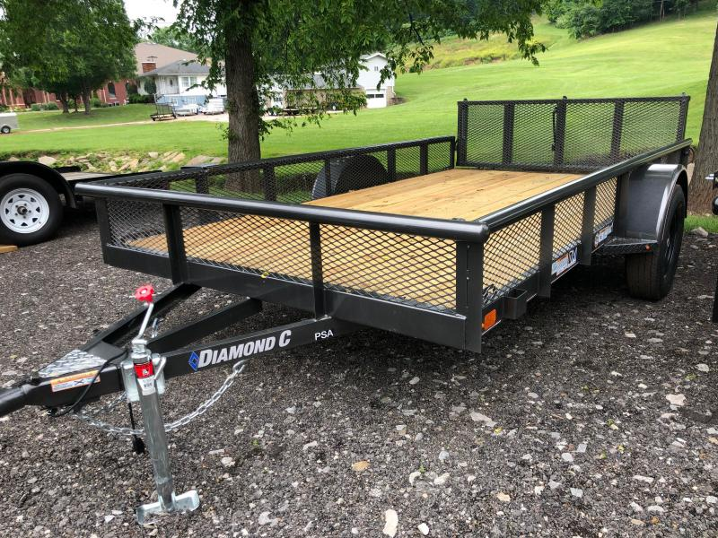 2020 Diamond C Trailers PSA135 12X77 Utility Trailer w/ Expanded Metal Sides