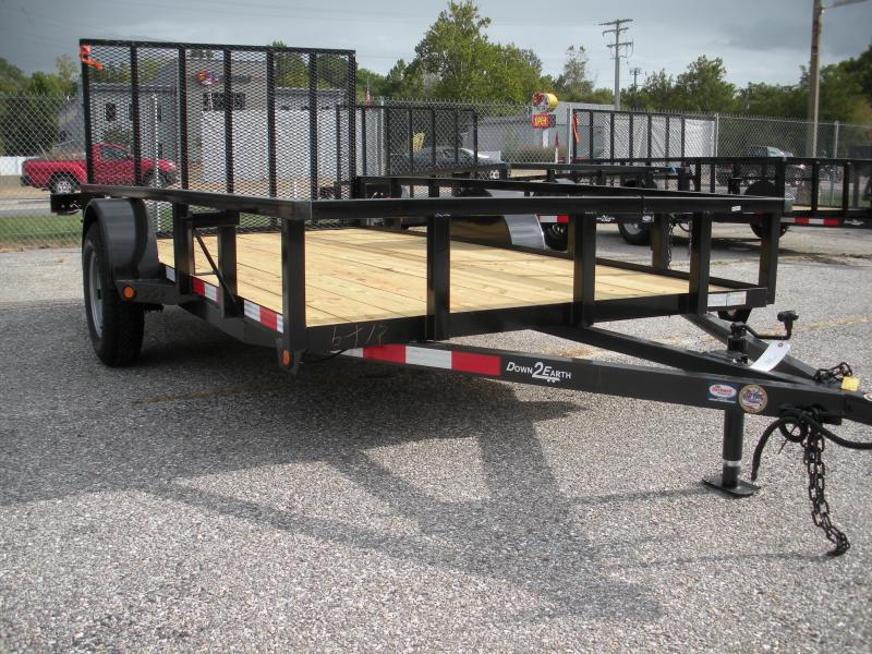 2019 Down 2 Earth Trailers 6X12 Utility Trailer
