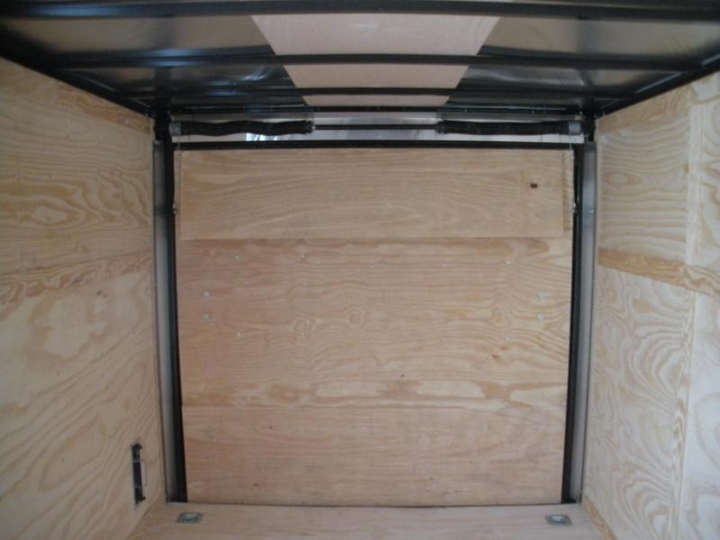 "2020  Spartan 7' X 12' 3K Black w/ ""Black Trim Pkg."" Motorcycle Pkg. Semi-Screwless Enclosed Cargo Trailer"