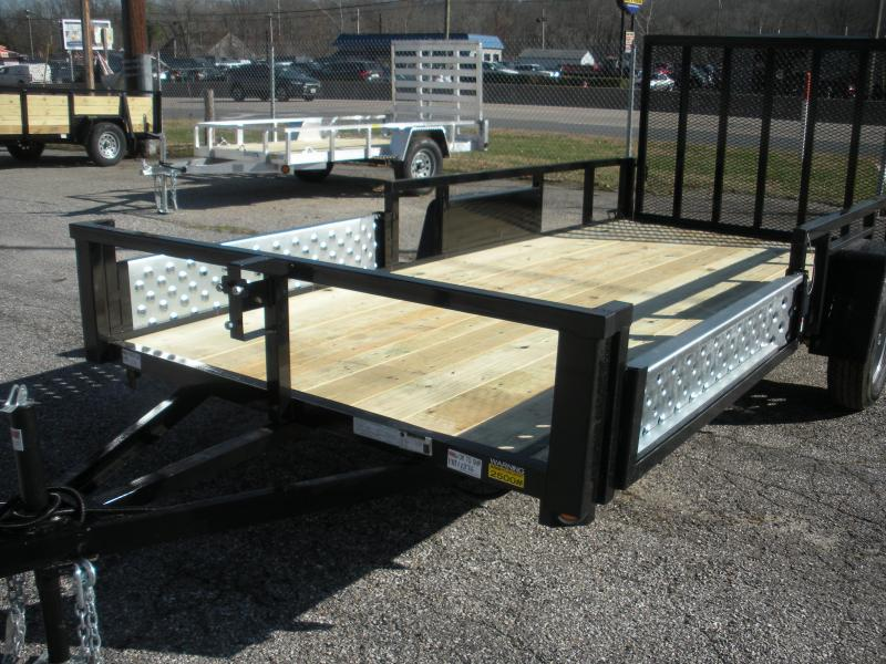 "2020 Quality Steel and Aluminum 74"" X 14' 3K Single Axle ""ATV Ramps"" Utility Trailer"