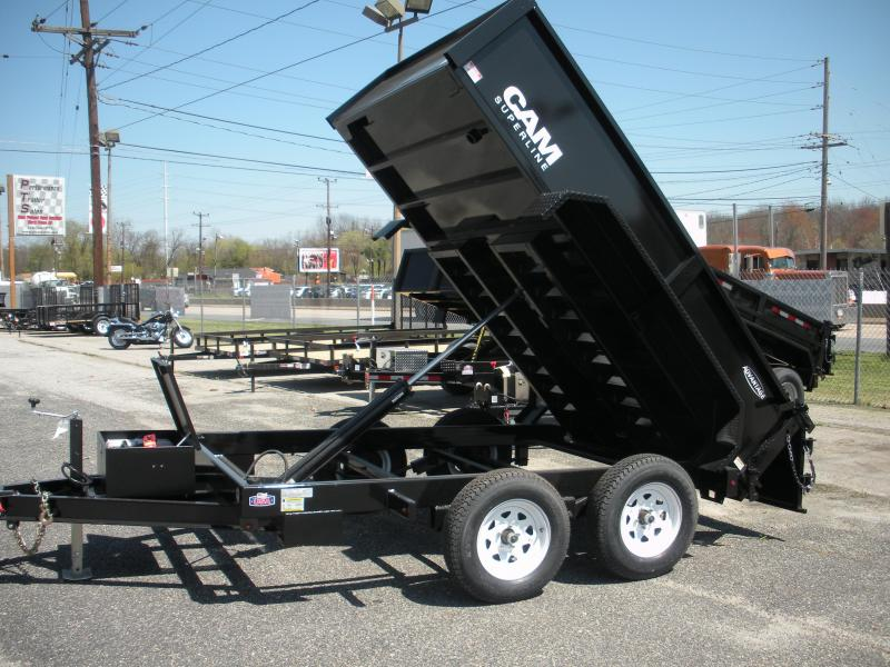 2019 Cam Superline 6' X 12' 10 K Low Profile Dump Trailer with Ramps