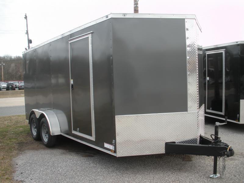 """""""HOT DEAL"""" 2020 Anvil 7' X 16'  Charcoal Enclosed Cargo Trailer"""