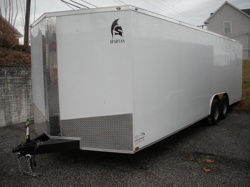 2020 Spartan 8.5' X 24' 10K .030 White Metal and Thermo Ceiling Car / Racing Trailer