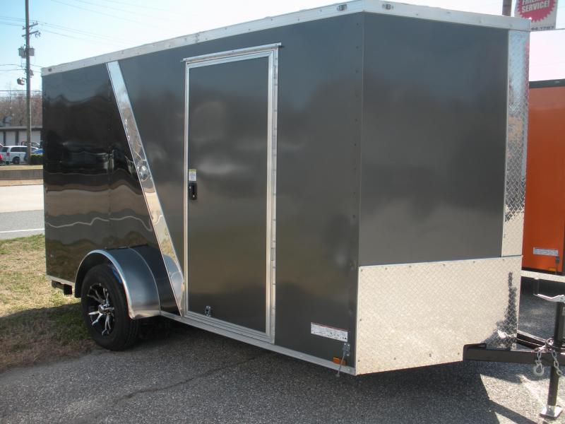 2019 Anvil 6' X 12' Enclosed 2 Tone Black and Charcoal Cargo Trailer
