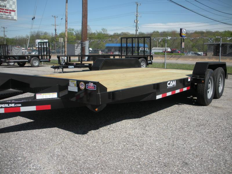 "2020 Cam Superline 82"" X 18' 7K Open Car / Racing Trailer"