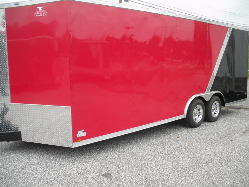 2019 Anvil 8.5' X 20' Black & Red w/ Aluminum Wheels 7K Car / Racing Trailer