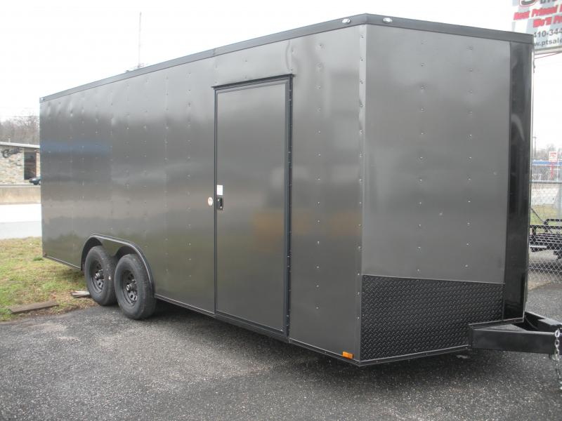 2020 Spartan 8.5' X 20' X 7' Height 10K Charcoal with Black Trim Car Racing Trailer