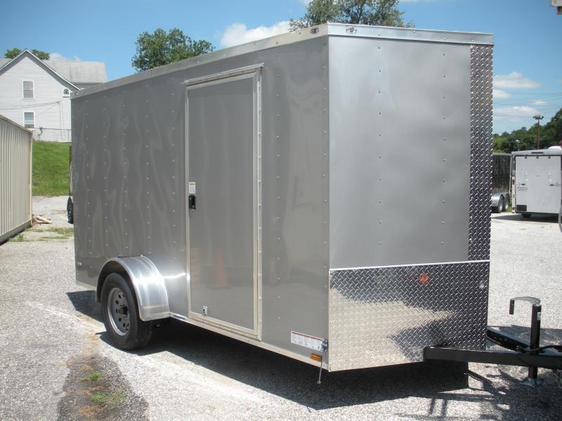 2020 Anvil 6' X 12' Charcoal Grey Enclosed Cargo Trailer