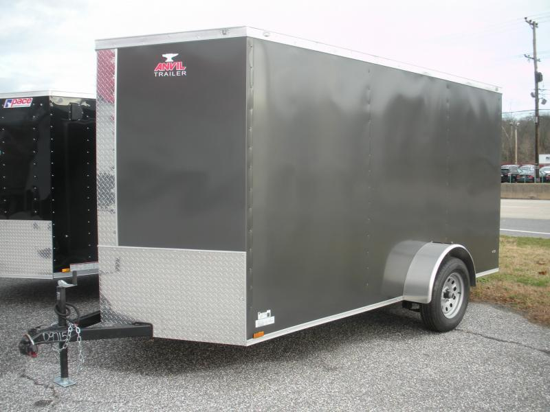 2020 Anvil 6' X 12' Charcoal Grey Enclosed Cargo Trailer