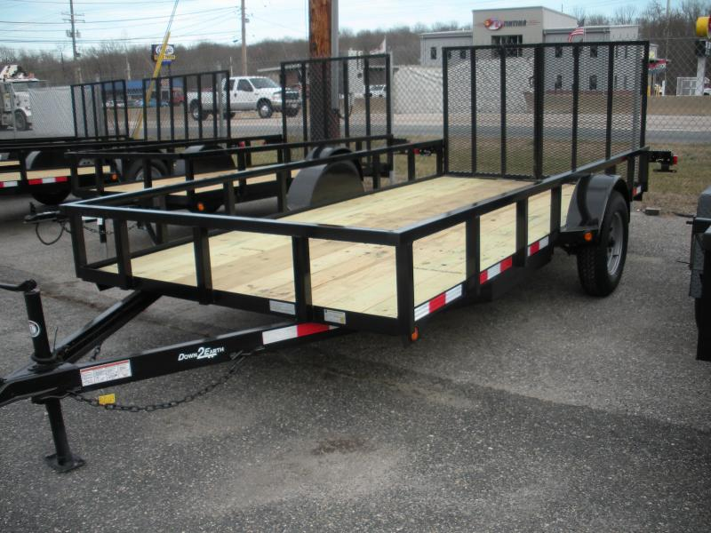 2019 Down 2 Earth Trailers 76X14 3K Single Axle Utility Trailer