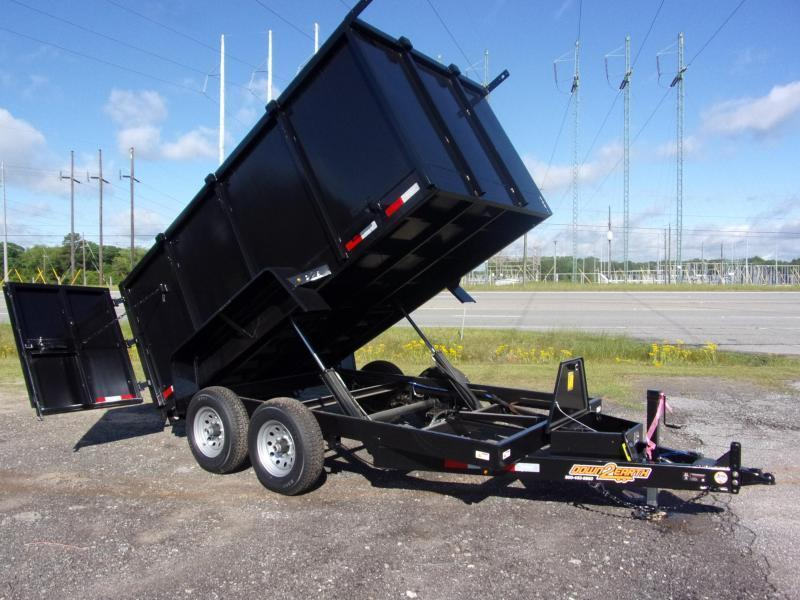 "Due In May 19th *2020 Down 2 Earth Trailers 6' X 12' 10K Dump*48"" High Sides* Ramps*Twin Cylinders* Dump Trailer"