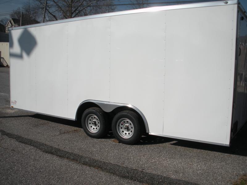 2020 Spartan 8.5' X 20' X 7' Height 7K White Semi-Screwless Car / Racing Trailer