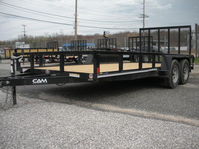"2020 Cam Superline 82"" X 14' Utility Trailer 7K Tandem with Tubular Railings"
