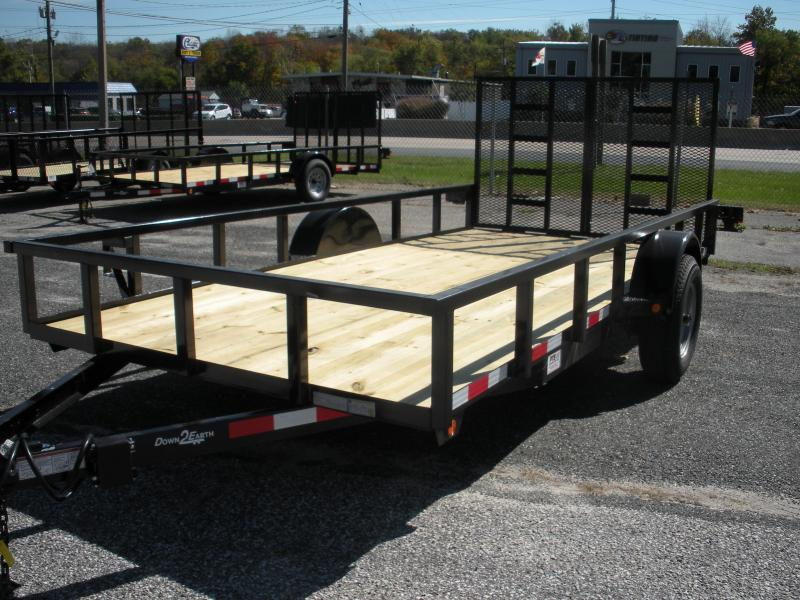 2019 Down 2 Earth Trailers 76X14 5K Single Axle Utility Trailer