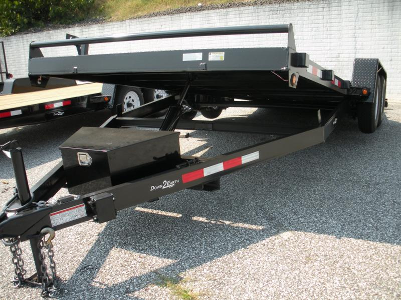 "2019 Down 2 Earth Trailers 82"" X 18' Power Tilt Open Car Trailer"