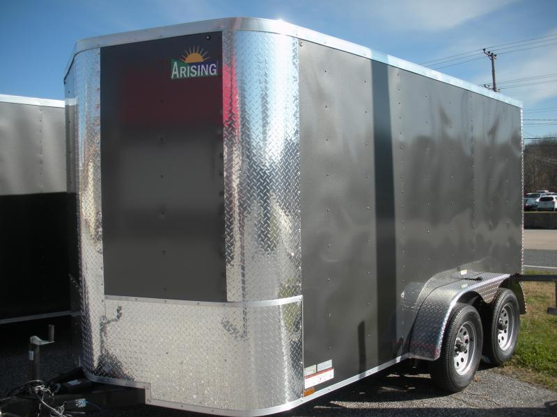 2020 Arising 7' X 12' 7K  Enclosed Cargo Trailer with Rear Barn Doors