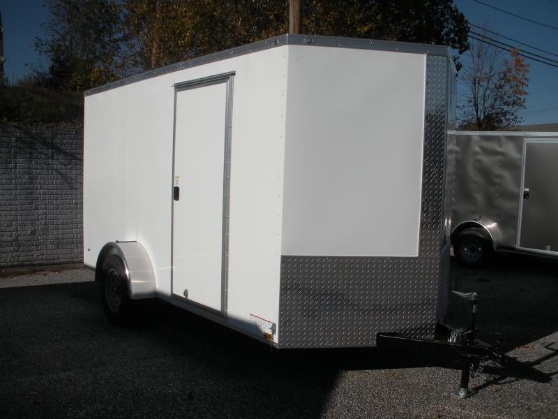 2020 Anvil 6' X 12' White Enclosed Cargo Trailer