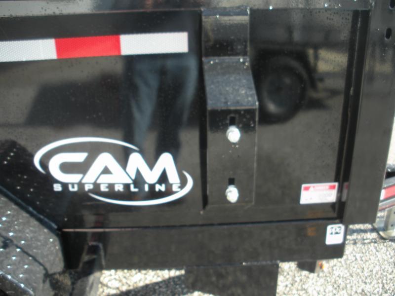 2020 Cam Superline 6' X 10' 10K with 5' Landscape Ramp Low Profile Dump Trailer