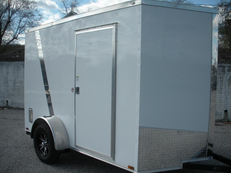 "2020 Spartan 6' X 10' White Two Tone 6'6"" Height Motorcycle Pkg. Enclosed Cargo Trailer"