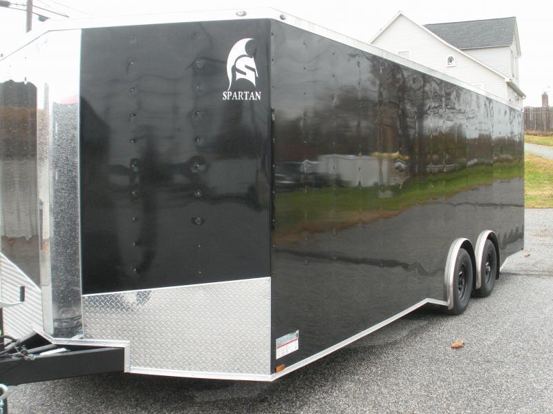 2020 Spartan 8.5' X 24' 10K Black Spread Axles and Thermo Ceiling Car / Racing Trailer