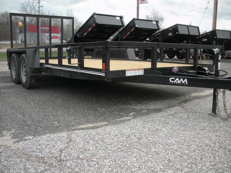 "2020 Cam Superline 82"" X 14' Utility Trailer 7K Tandem with Tubular Railings"