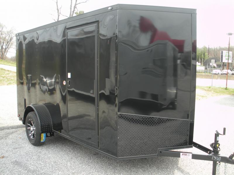 "2020 Spartan 6' X 12' ""Black Trim Pkg."" & Motorcycle Pkg. Enclosed Cargo Trailer"