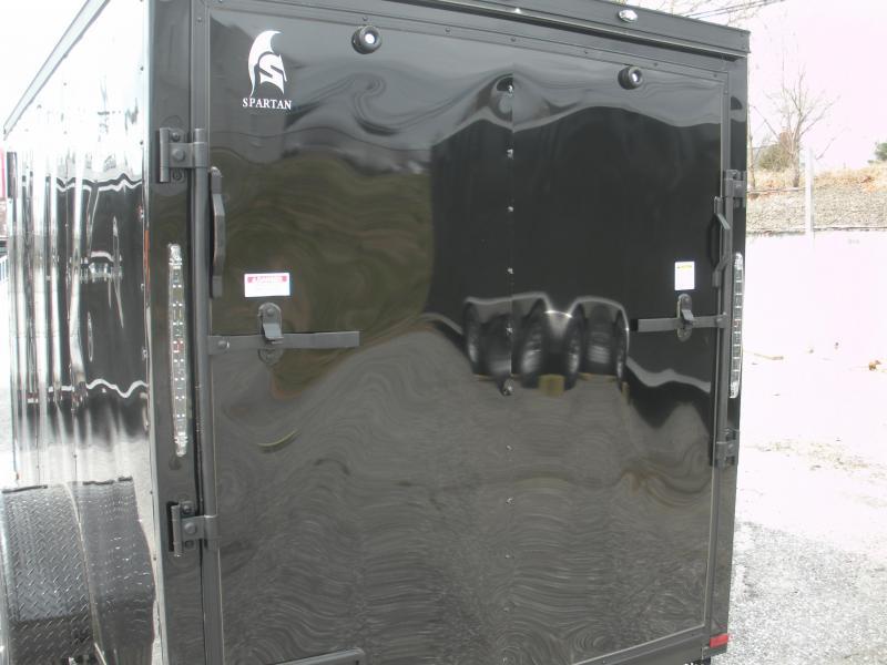 "2020 Spartan 6' X 12' ""Black Trim Pkg."" & Motorcycle Pkg. Enclosed Cargo Trailer"