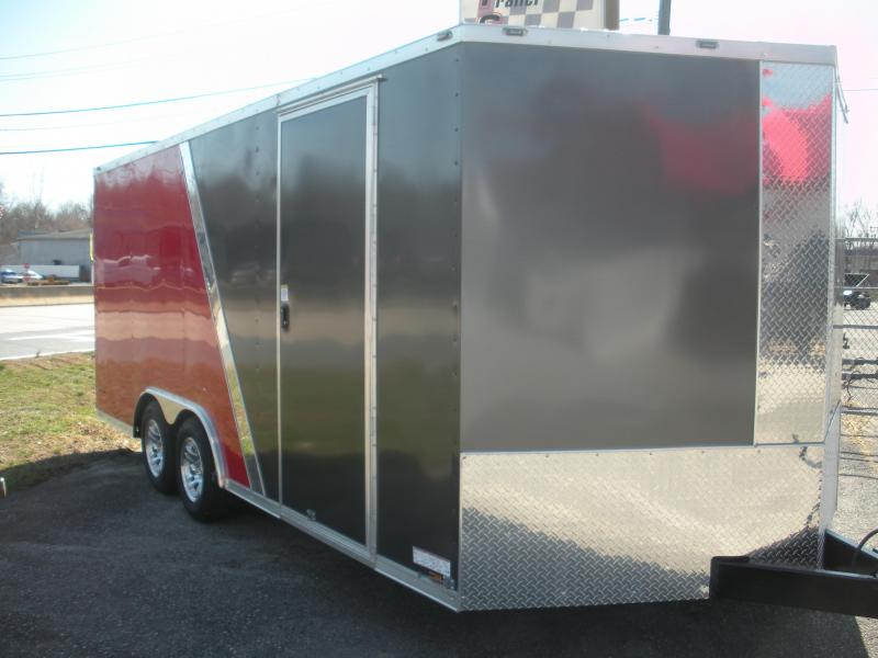 2020 Anvil 8.5' X 18' 7K 2 Tone Charcoal and Red Car / Racing Trailer