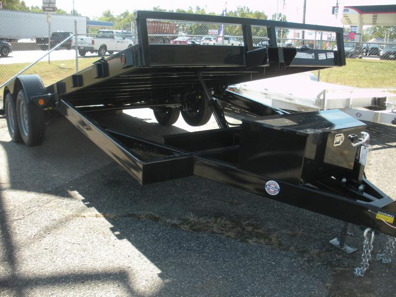"""2020 Quality Steel and Aluminum 83"""" X 18' 7K Steel Deck Power Up & Down Open Car / Racing Trailer"""
