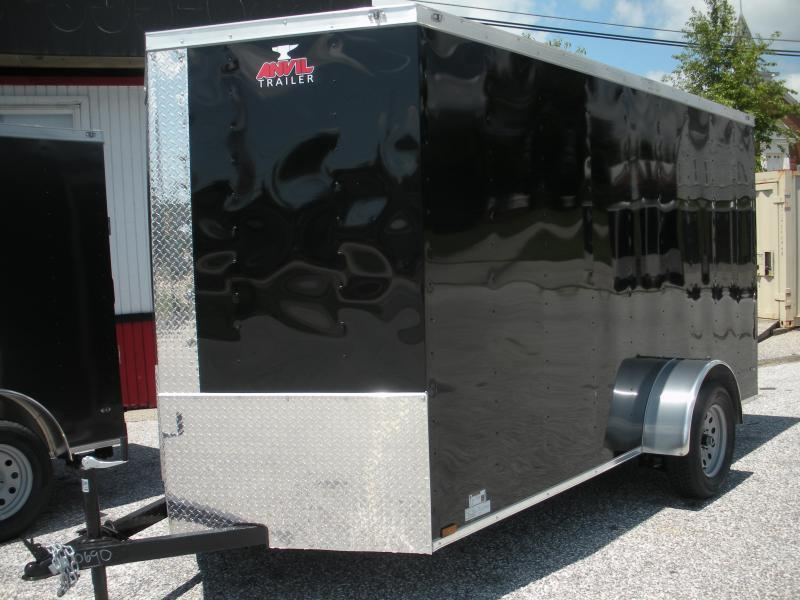 2020 Anvil 6' X 12' Black Enclosed Cargo Trailer