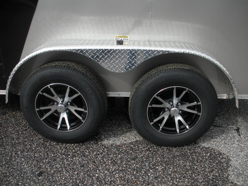 2020 Arising 7' X 12' 7K Black/Beige Enclosed Motorcycle Cargo Trailer