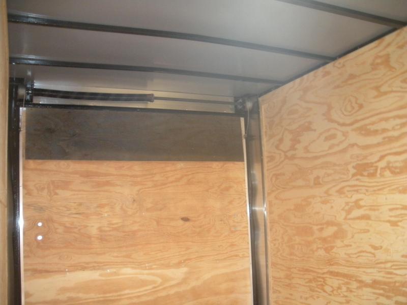"2020 Anvil 7' X 16' X 7' Slanted V Nose ""Black Trim"" Enclosed Cargo Trailer"