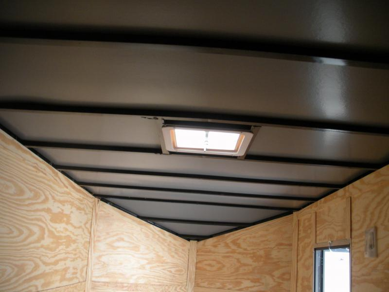 "2019 Anvil 7' X 16' X 7' Slanted V Nose ""Black Trim"" Enclosed Cargo Trailer"