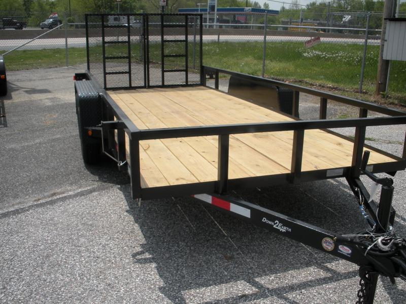 "2020 Down 2 Earth Trailers 76"" X 16' 7K Tandem Axle Utility Trailer"