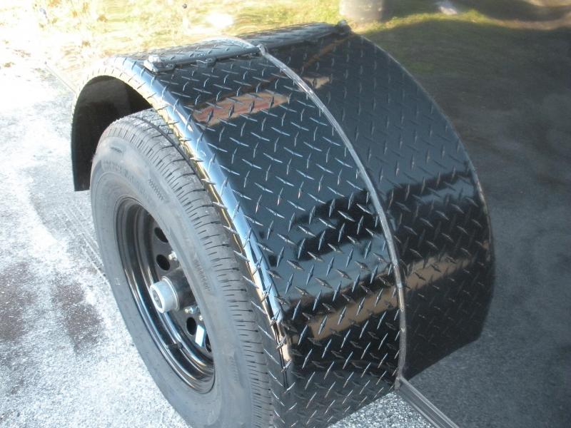 2020 Anvil 7' X 12' X 7' Hgt. 5K Single Brake Axle Slanted V Nose Black Trim Enclosed Cargo Trailer