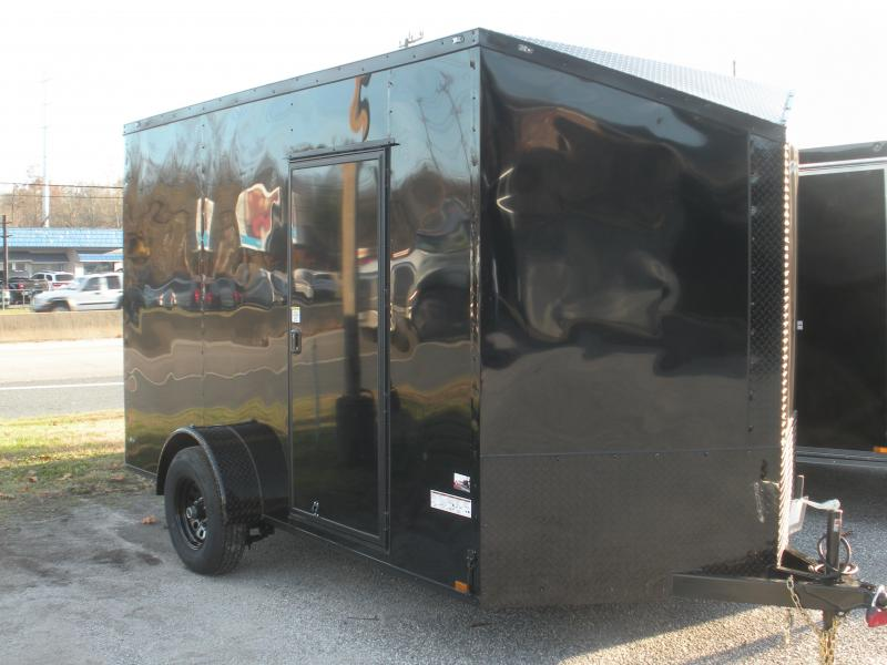 2020 Anvil 7' X 12' X 7' Hgt. 5K Single Brake Axle Slanted V Nose Black Trim Enclosed Cargo Trailer