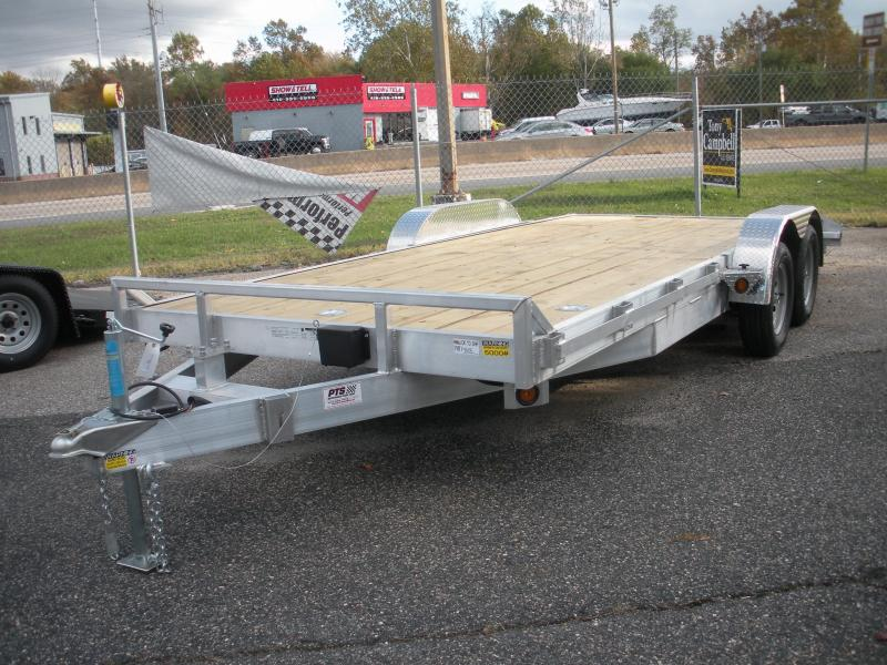 "2020 Quality Steel and Aluminum 83"" X 18' 7K Aluminum Open Car / Racing Trailer"