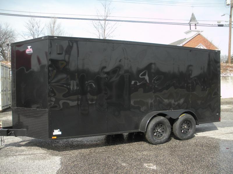 """2020 Anvil 7' X 16' """"Black Trim"""" Enclosed Cargo Trailer"""