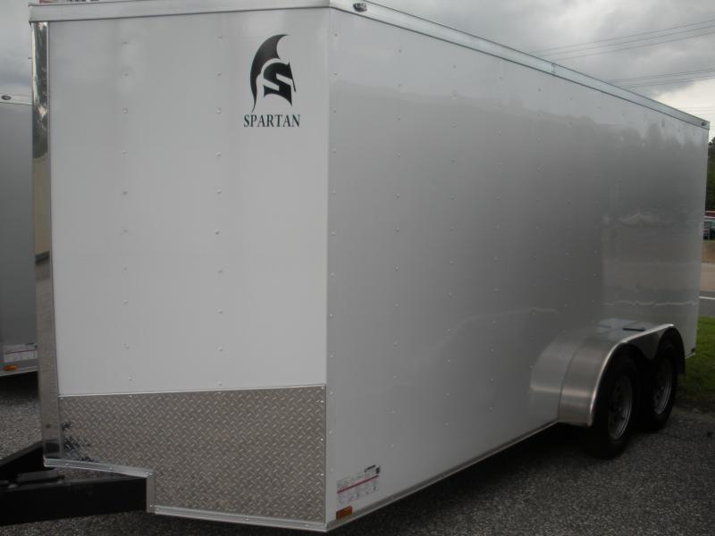 2020 Spartan 7' X 16'  Enclosed Cargo Trailer
