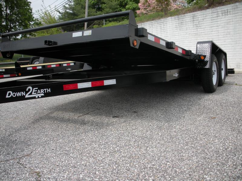 "2019 Down 2 Earth Trailers 82"" X 18' Gravity Tilt Open Car Trailer"