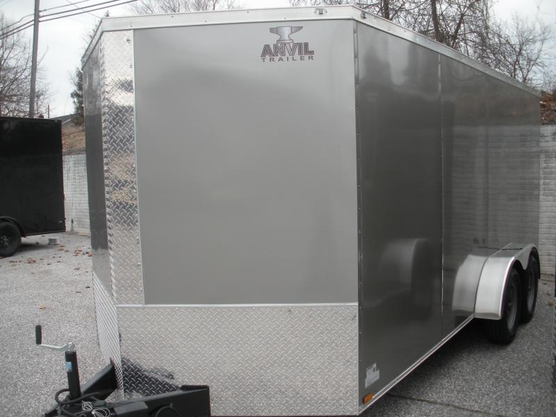 2020 Anvil 7' X 16'  Pewter Enclosed Cargo Trailer