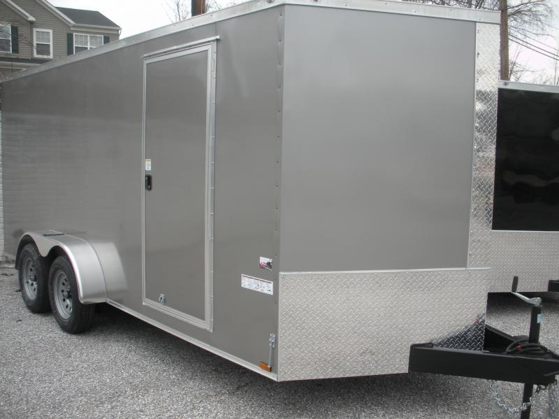2020 Anvil 7' X 16'  Pewter Enclosed Cargo Trailer