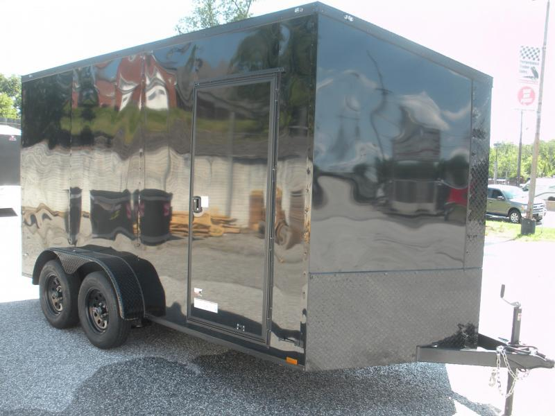 "2020 Anvil 7' X 14' X 7' Slanted V Nose ""Black Trim"" Enclosed Cargo Trailer"
